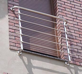 Перила нержавеющие французский балкон, фото 2