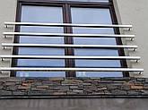 Перила нержавеющие французский балкон, фото 3