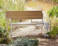 Скамейка для сада Haversham 2 Seat Classic Garden Bench in Taupe and Dark Linen, фото 1