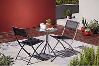 Набор для патио Cuba 3 Piece Balcony & Bistro Set Charcoal