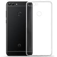 Чехол силиконовый Ультратонкий Epik для Huawei P Smart Прозрачный