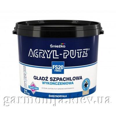 Шпаклевка Sniezka Acryl-Putz Finish Акриловая, 27 кг