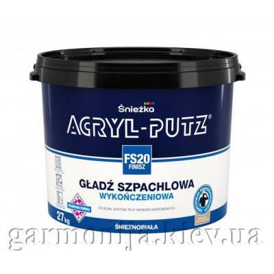 Шпаклевка Sniezka Acryl-Putz Finish Акриловая, 27 кг, фото 2