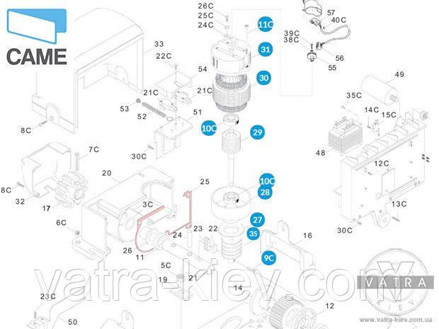 мотор автоматики Came bx 119ribx016 купить цена