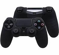 Силиконовый чехол Game Teh X Geeg для джойстика PS4 Черный (Арт. 10425)