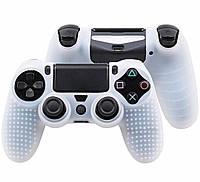 Силиконовый чехол Game Teh X Geeg для PS4 Белый (Арт. 10427)