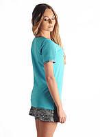 Яркая женская пижама с шортами (S-XL)