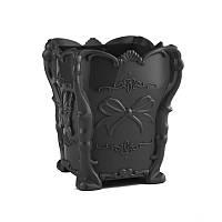 Подставка для кистей, черная с бабочкой