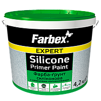 Краска-грунт силиконовая с кварцевым наполнителем Farbex 4.2 кг, в Днепре