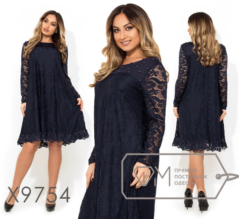 Стильное платье     (размеры 48-54)  0147-01