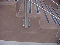 Перила нержавеющие с креплением в бок, фото 2