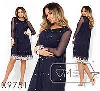 Стильное платье     (размеры 48-54)  0147-02, фото 1