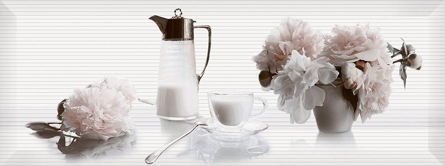 PERGAMO декор белый / Д 123 061-3