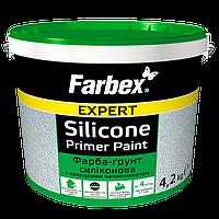 Краска-грунт силиконовая с кварцевым наполнителем Farbex 7 кг, в Днепре