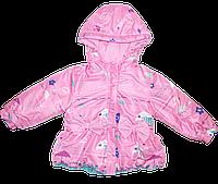 Детская весенняя, осенняя куртка р 92, 104 для девочки на флисе и холлофайбере, ТМ Ромашка Украина