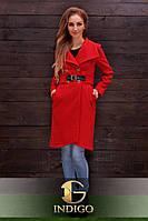 Кашемировое пальто с пряжкой на поясе (2 цвета)717