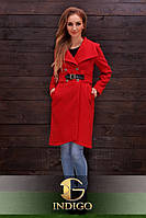 Кашемировое пальто с пряжкой на поясе (2 цвета)717, фото 1