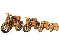 Плетеный цветочник из лозы велосипед (большой длина 58см)