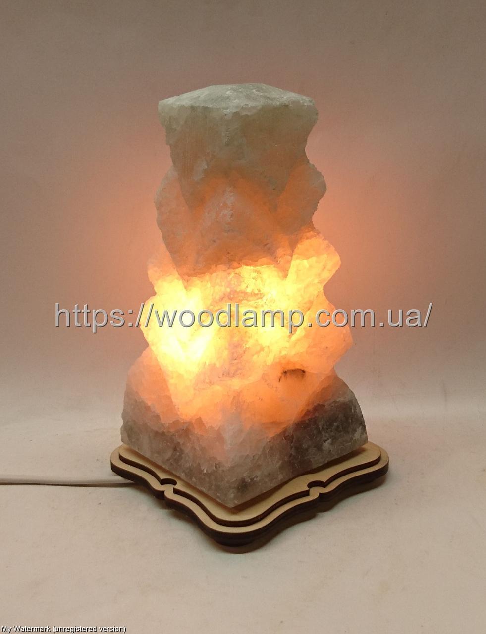 Соляной светильник  Елка Б резная