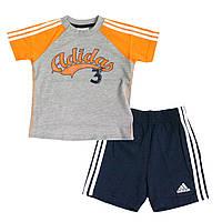 Шорты + футболка детские ADIDAS 3-Stripes AB Summer Set Infant X13214 адидас