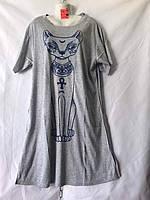Ночная котоновая рубашка Батал (р-ры 56-58-60) оптом со склада в Одессе.