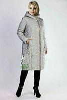 Пуховик пальто больших размеров батал Mishele на верблюжьей шерсти мехом норки 52, 54, 56, 58