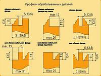 Фрезы для изготовления мебельных фасадов с остеклением 5.01 (полка)