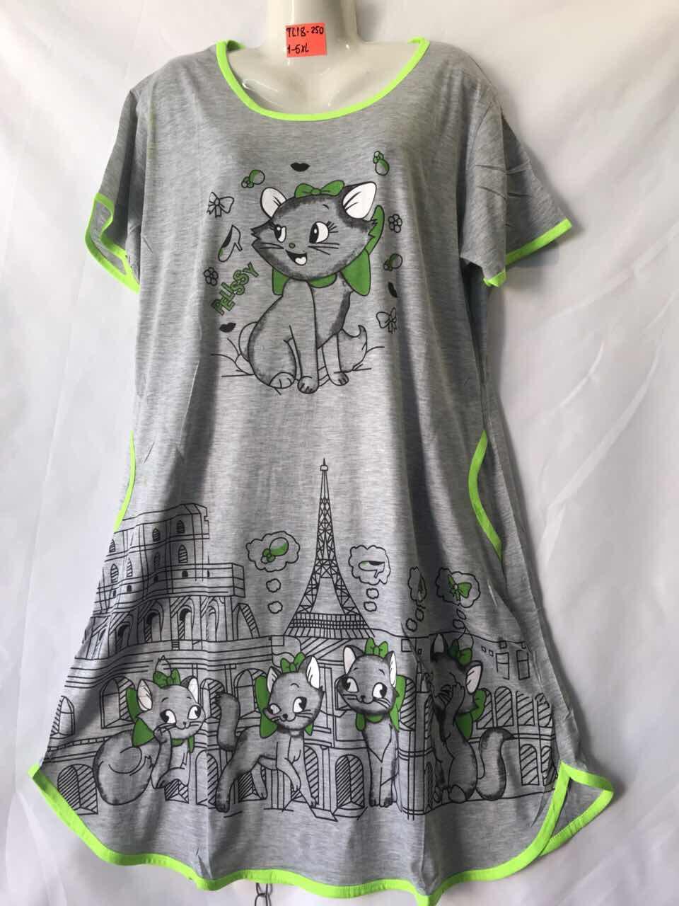 Ночная котоновая рубашка норма (р-ры 46-52) оптом со склада в Одессе.