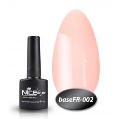 Камуфлирующая База  для гель-лака Nice (BaseFR -002), 8.5 мл