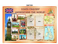"Стенд для кабинета английского языка "" LEARN ENGLISH"""