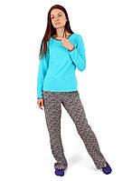 Женская пижама хлопковая со штанами (S-2XL)