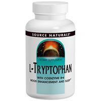 L-Триптофан 500 мг 60 таб  Антидепрессанты натуральное снотворное Source Naturals USA
