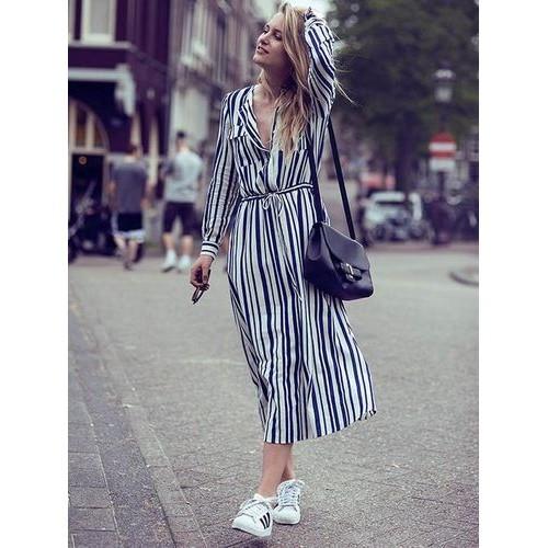 87606d89ed4 Платье пляжное полосатое сине-белое на пуговицах 146-47 - ОПТИМАЛ в Киеве