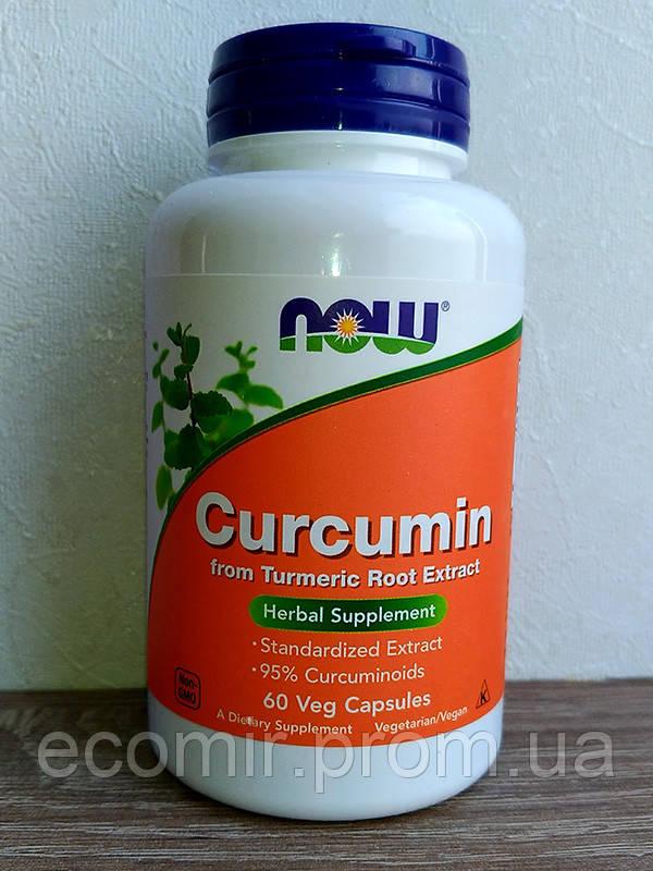 Куркумин, Now Foods (665 мг/ 60 капсул)