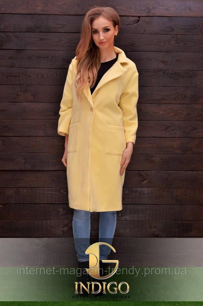 Стильное пальто из кашемира для модниц 724