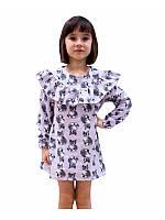 Платье теплое для девочки оптом