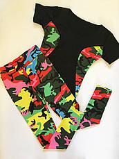 Костюм для фитнеса камуфляжной расцветки 46 и 48, фото 3