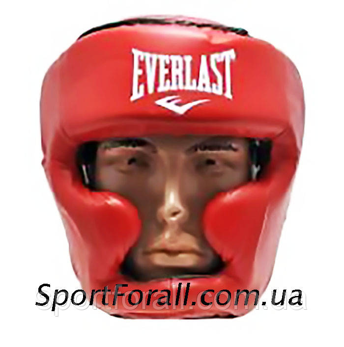 Шолом боксерський з повним захистом PU EVERLAST BO-598