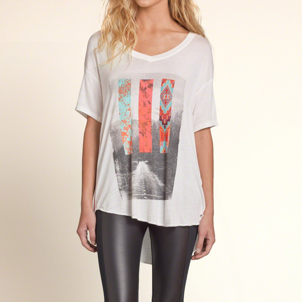 Женская футболка Hollister