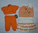 Комплект для девочки Изабелла оранжевый (Petito Club, Турция), фото 2