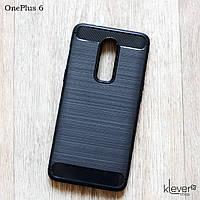 "TPU чехол накладка для OnePlus 6 (black ""Carbon"")"