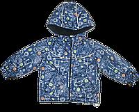 Детская куртка на молнии с капюшоном, на флисе и холлофайбере, ТМ Ромашка, р. 86, 92, 98, 104