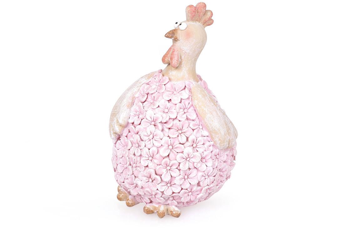 Декоративная фигурка Курочка цвет - розовый, 14см (831-728)