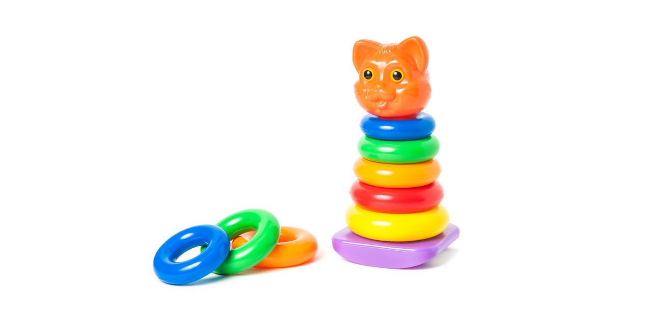"""Іграшка пірамідка кішка 573В4 """"Оріон"""" качалка, 130*125*255 мм"""