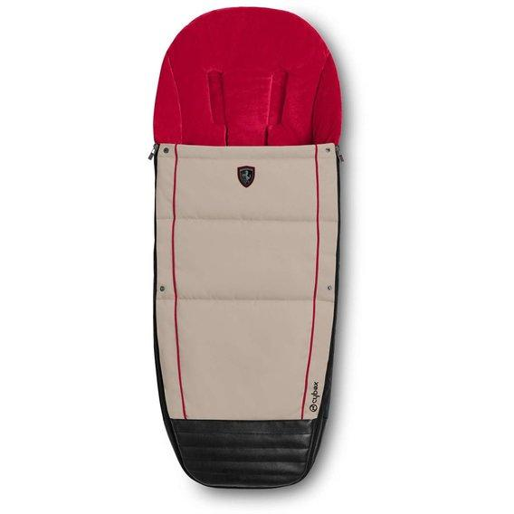 Чехол для ног Cybex Footmuff for Scuderia Ferrari / Silver Grey light grey PU1