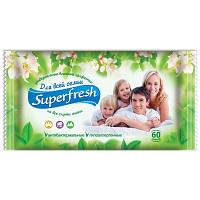 """Салфетки влажные """"Superfresh"""" для всей семьи 60шт/уп."""