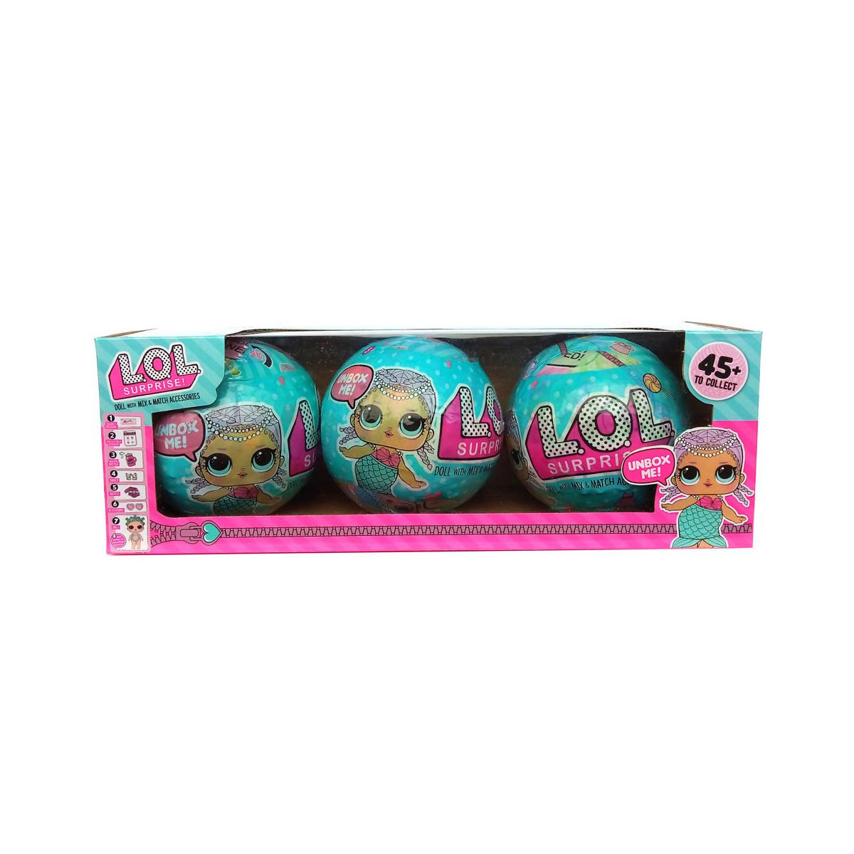 Игрушка сюрприз кукла LOL surprise doll с аксессуарами  3 штуки набор
