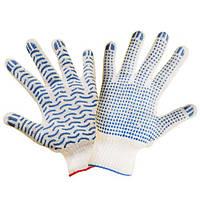 Перчатки с ПВХ точкой (синтетика)
