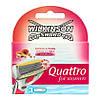 Wilkinson Quattro for Women  Rasierklingen - Сменные кассеты к бритвенному станку для женщин 3 шт.