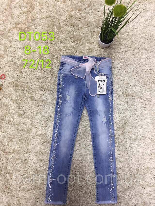 Джинсовые брюки на девочку оптом, S&D, 8-16 рр.